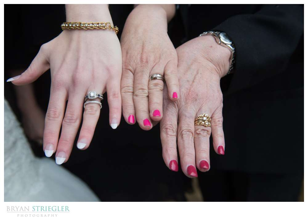 Fayetteville Wedding Photographer three generations of rings