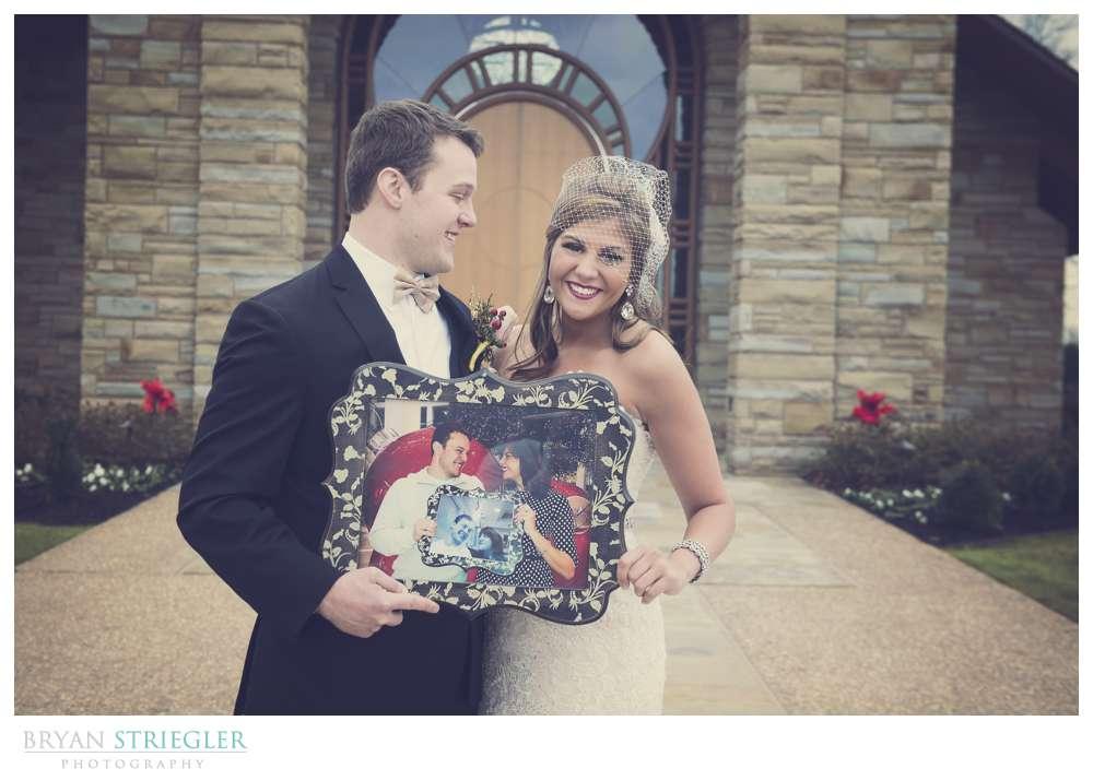 Arkansas Winter Wedding bride and groom