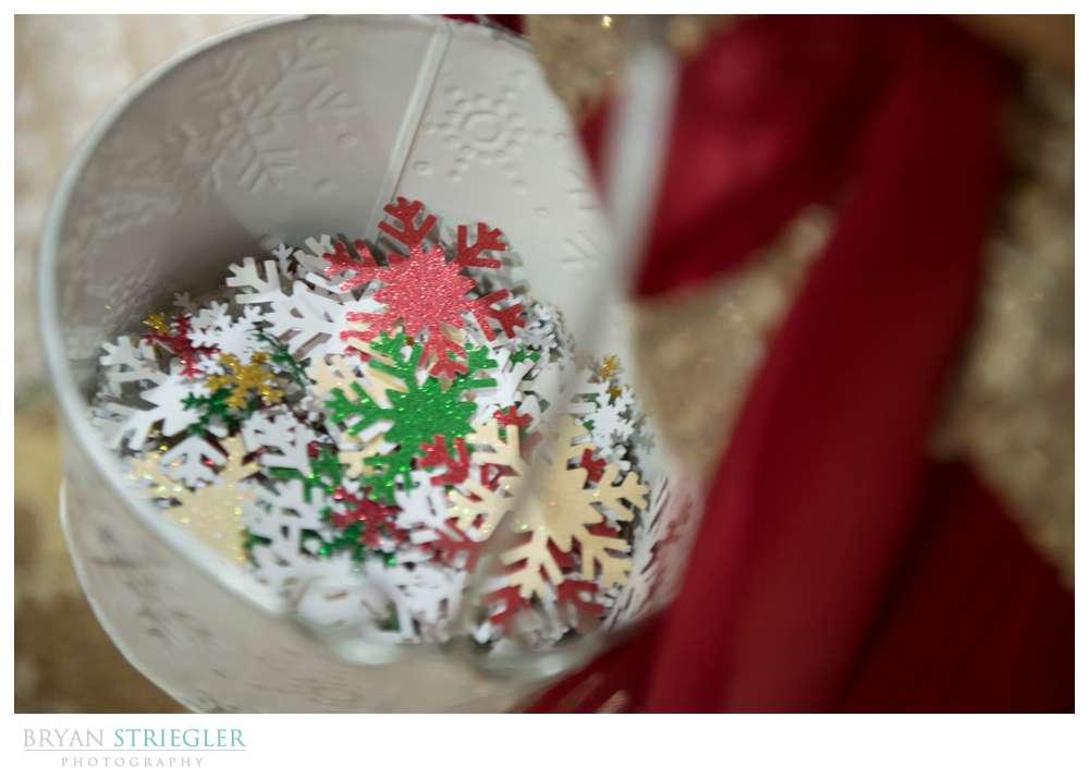 Arkansas Winter Wedding snowflakes