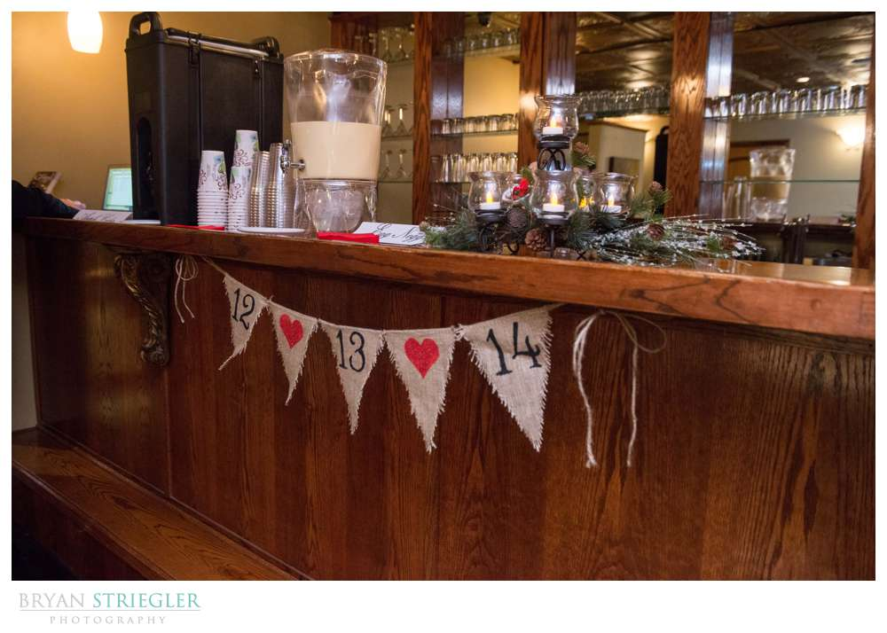 Arkansas Winter Wedding hot chocolate bar