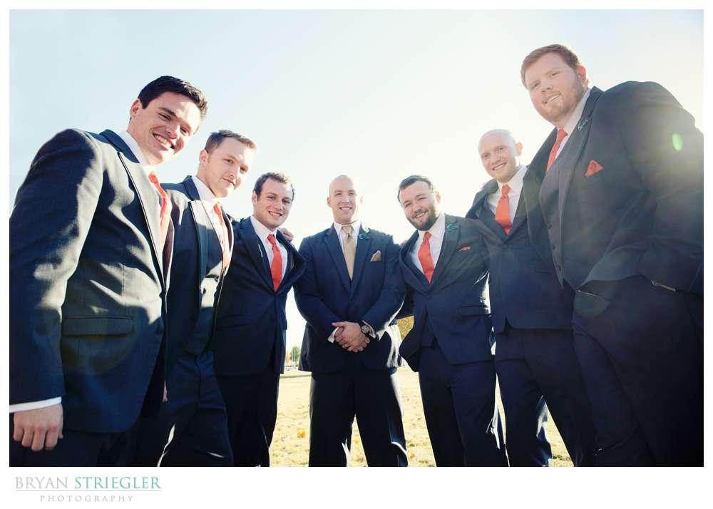 Springdale Arkansas Wedding groomsmen