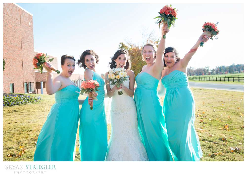 Springdale Arkansas Wedding bridesmaids