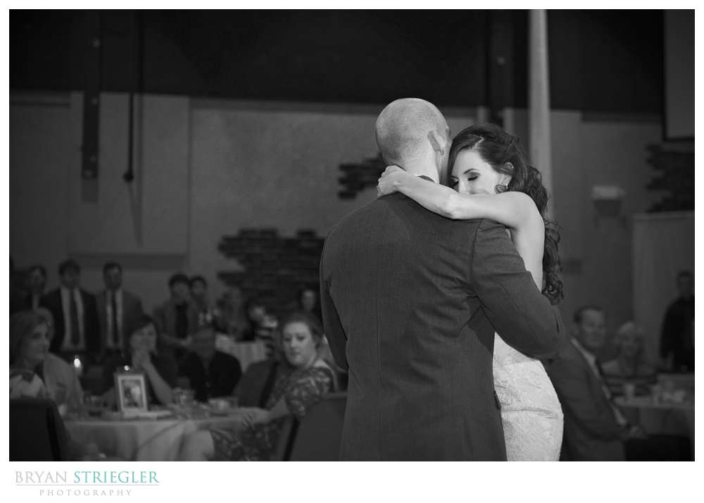 Springdale Arkansas Wedding  dancing black and white