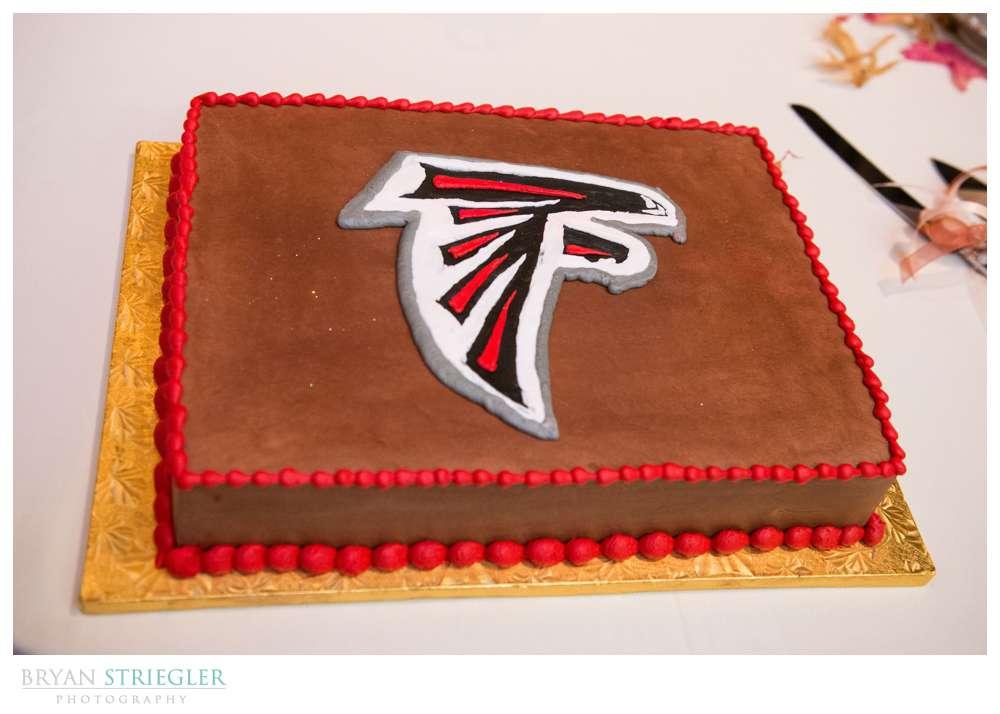 Springdale Arkansas Wedding Atlanta Falcon cake