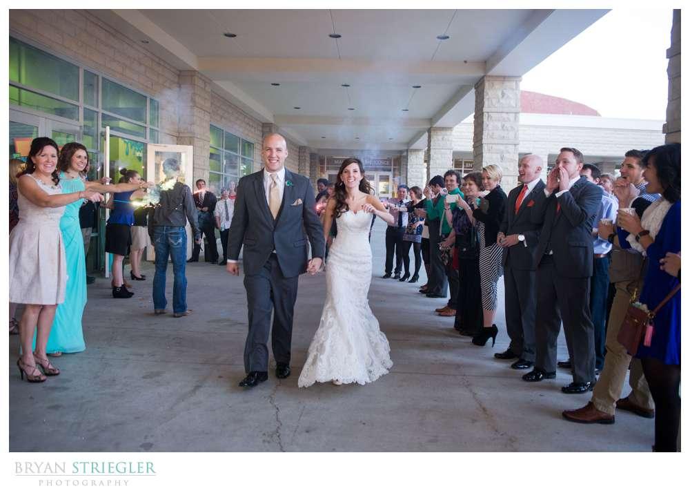 Springdale Arkansas Wedding sparkler exit