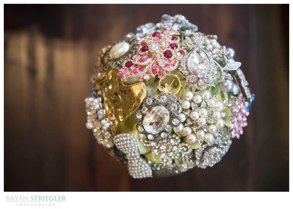 wedding details bouquet handcrafted ornaments