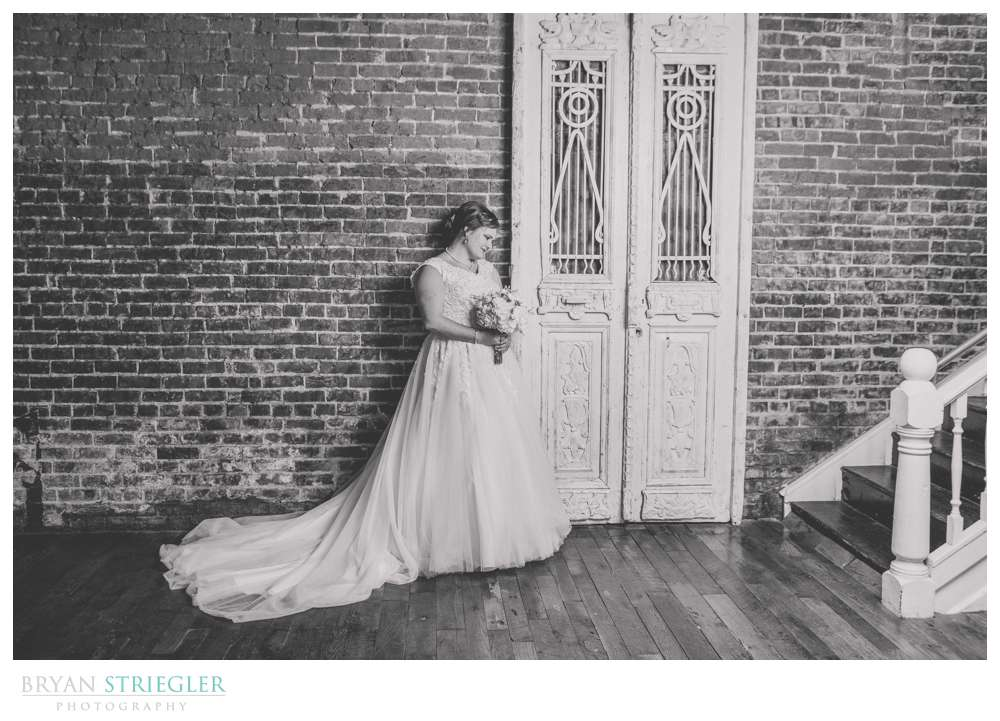 bride near doors at Ravington