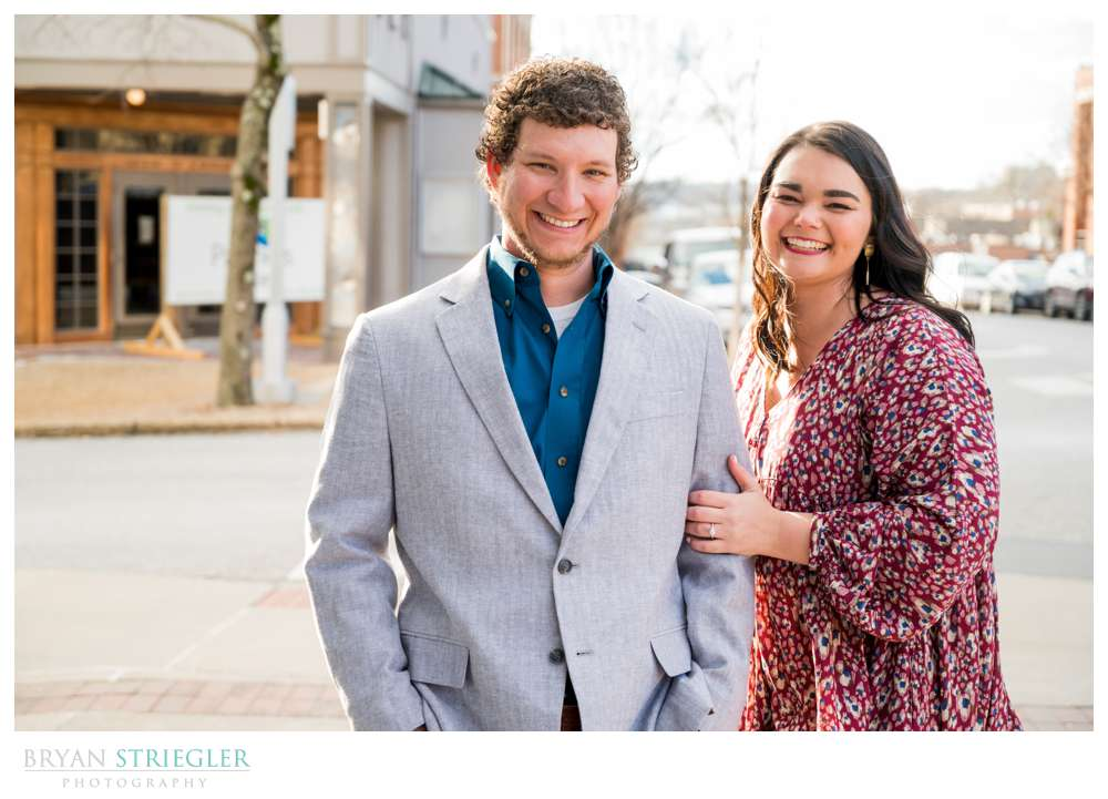 Fayetteville Square engagement session