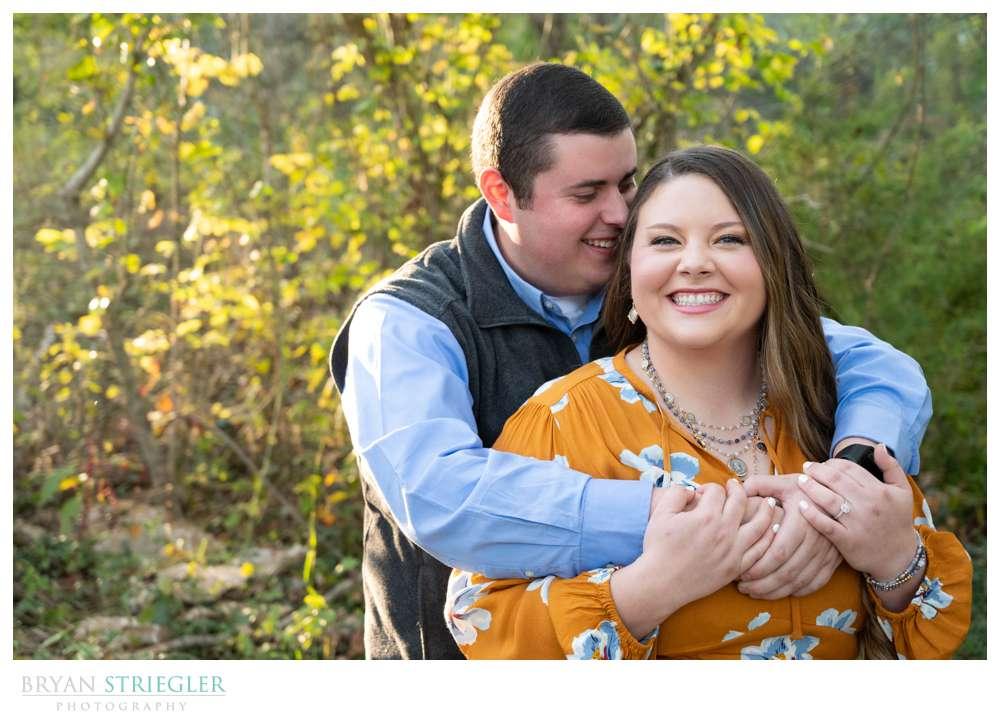 sunny engagement photo