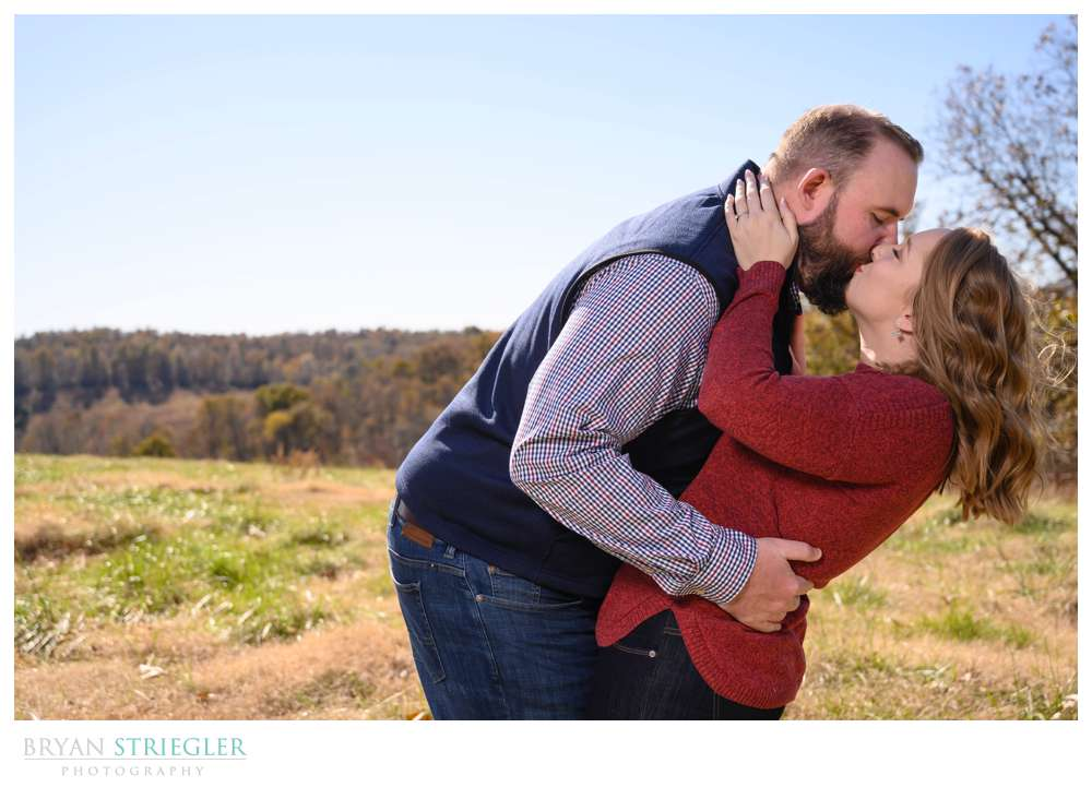 dipping engagement photo