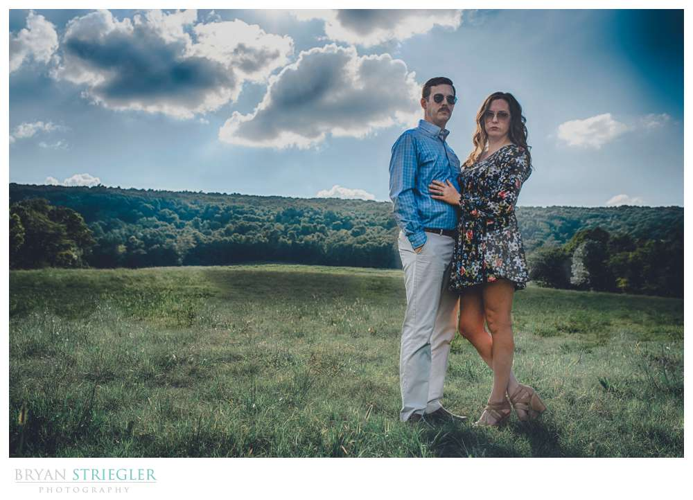 HDR engagement session photo