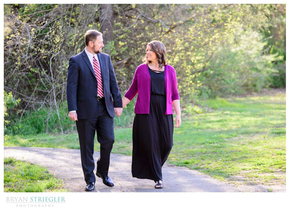 engagement session at Gulley Park