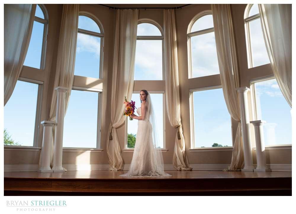 bride at The Orchard wedding venue