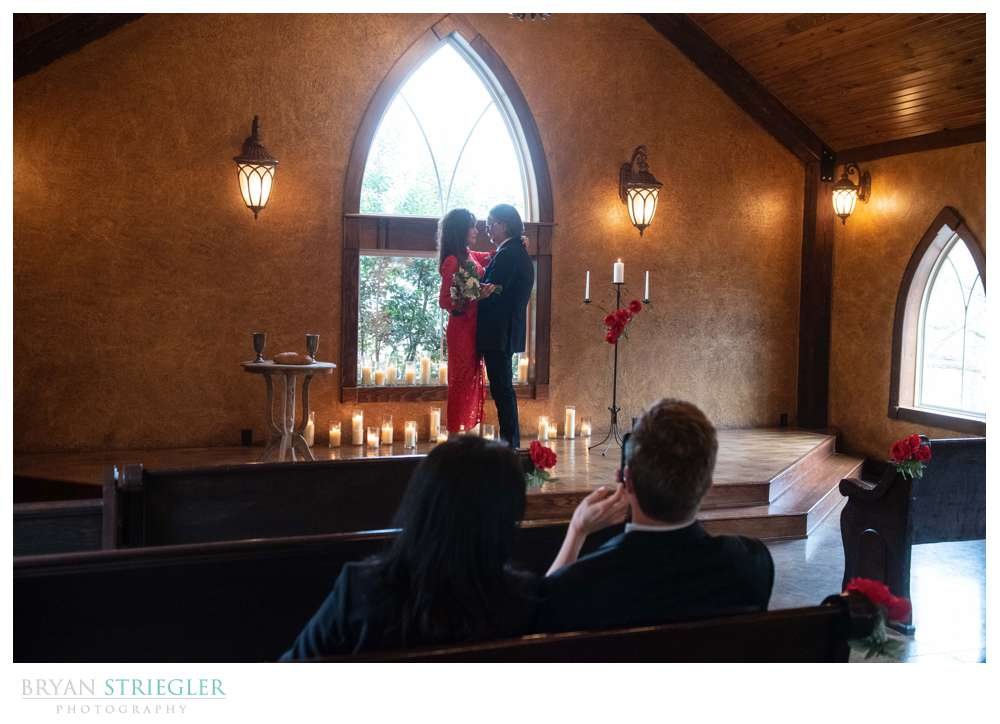 small wedding at St. Anthony's on the Creek