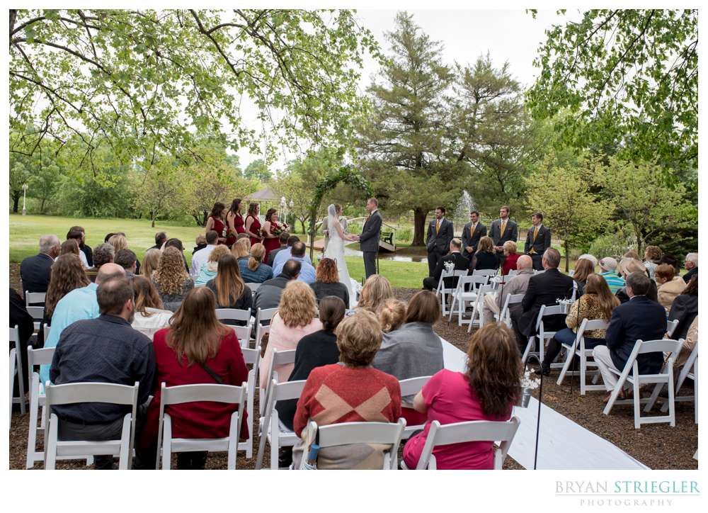 outdoor wedding ceremony at Magnolia Gardens