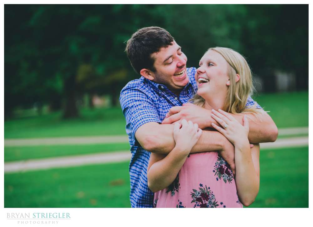 laughing during engagements