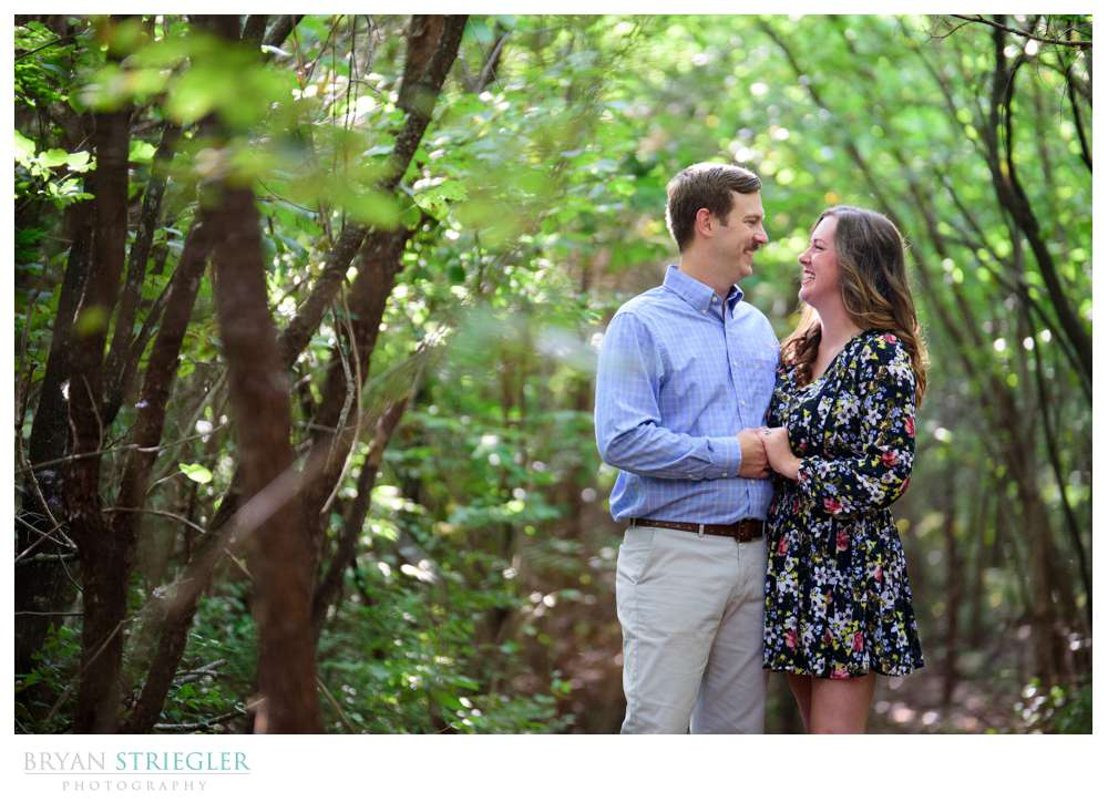 engagement photo in Fayetteville, AR