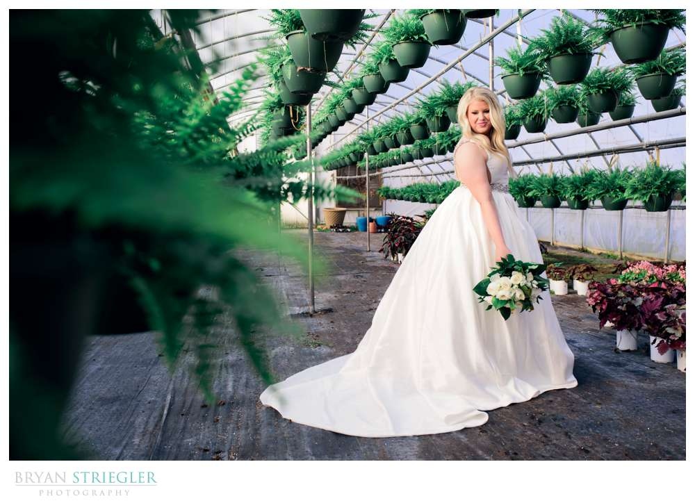 bridal portraits at Westwood Gardens