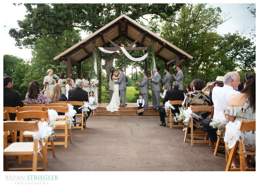 ceremony at Barn at the Springs