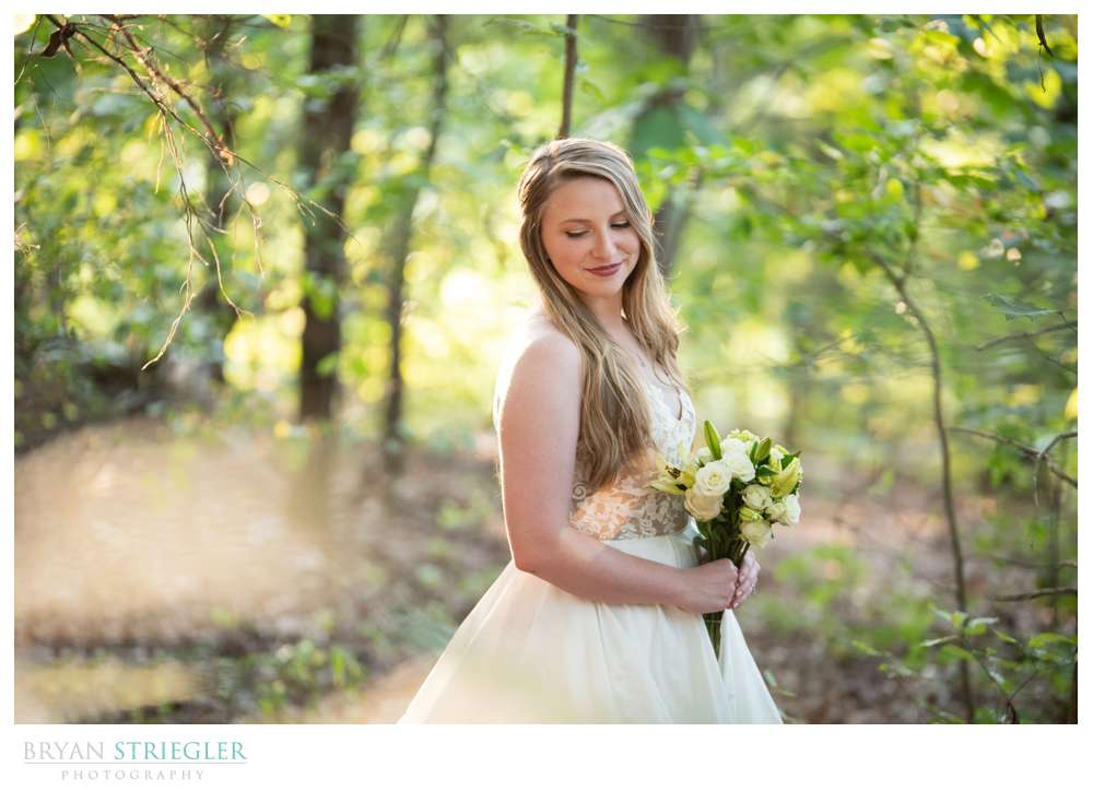 bridals in a forest