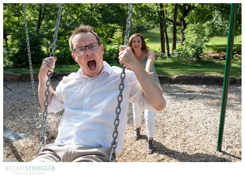 swings at Wilson Park