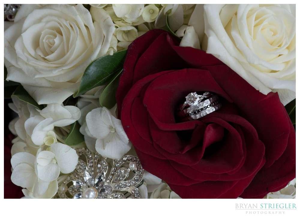 up close shot of wedding rings