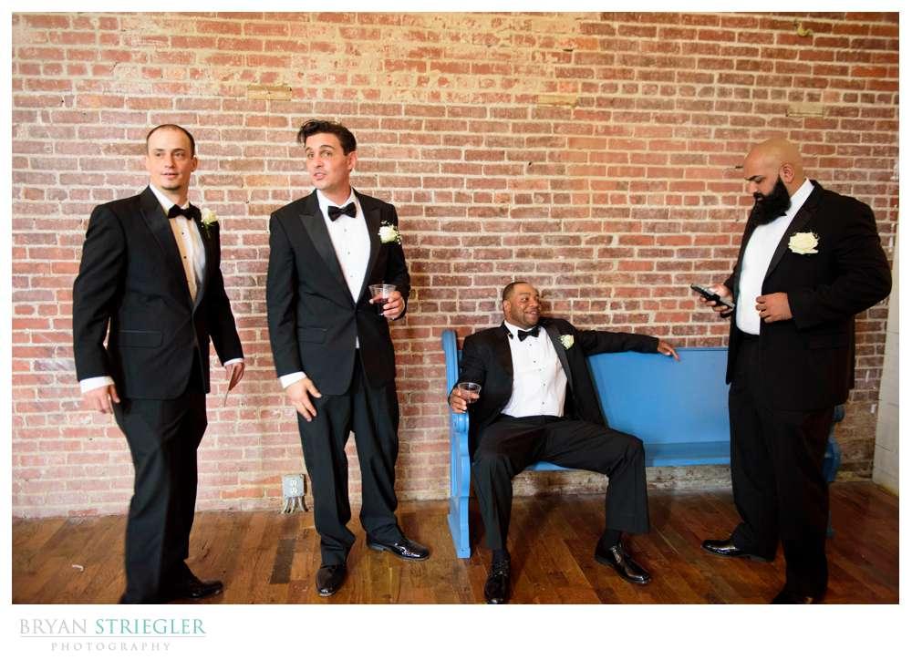 groomsmen hanging out at the Ravington