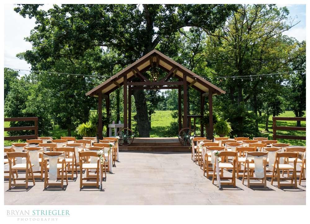 small outdoor wedding at barn at the springs