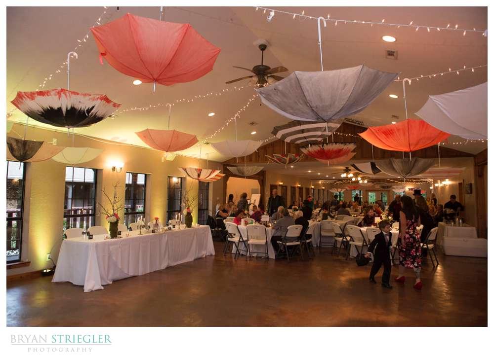umbrella's decorating wedding reception