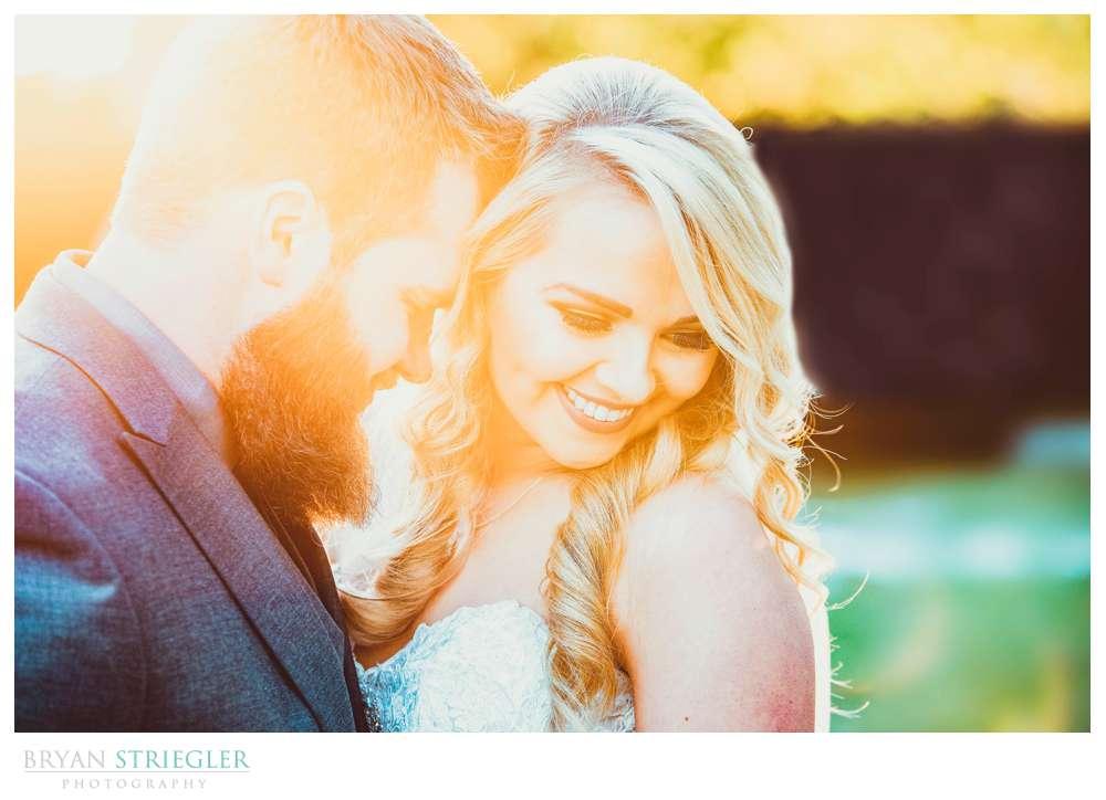 couple portrait with setting sun