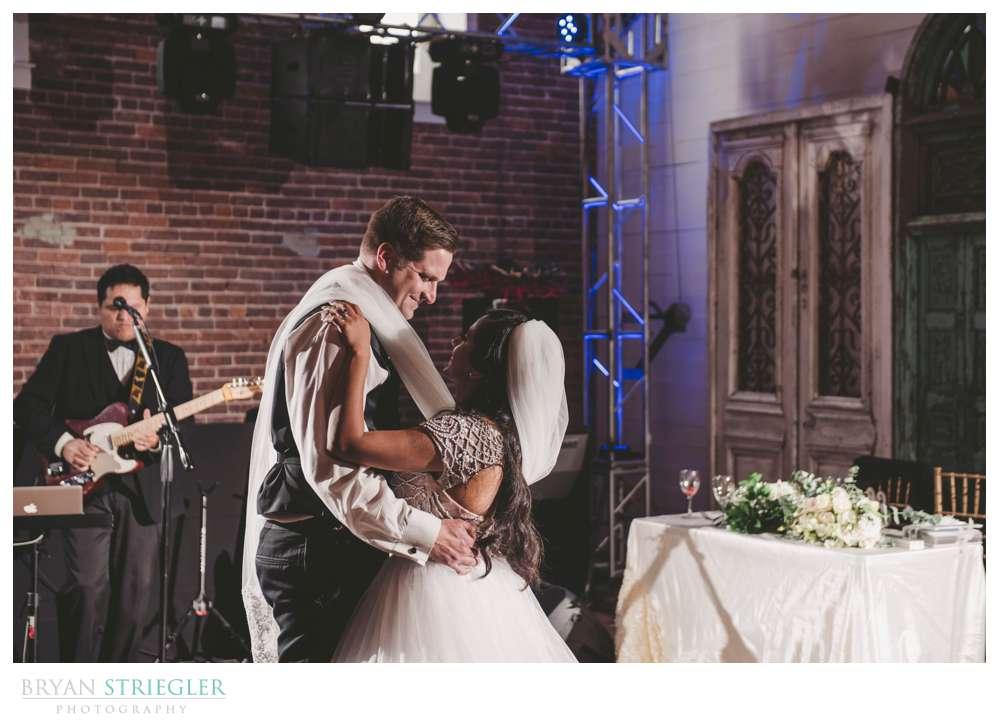 first dance at the Ravington wedding venue