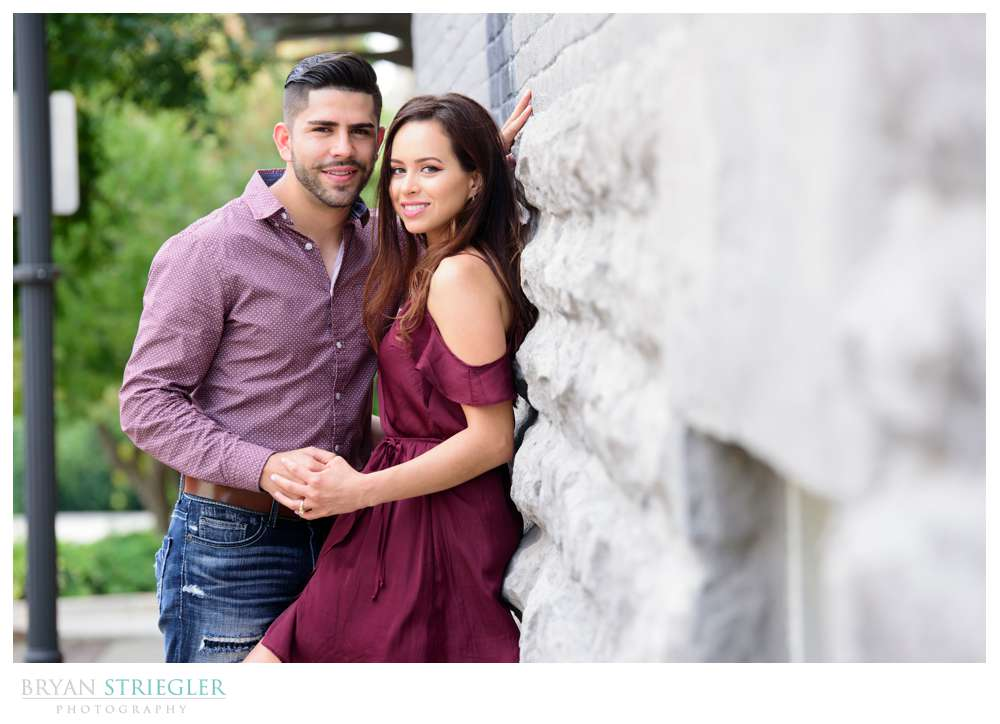 Fayetteville Square Engagement Photos: Michelle and Arnulfo