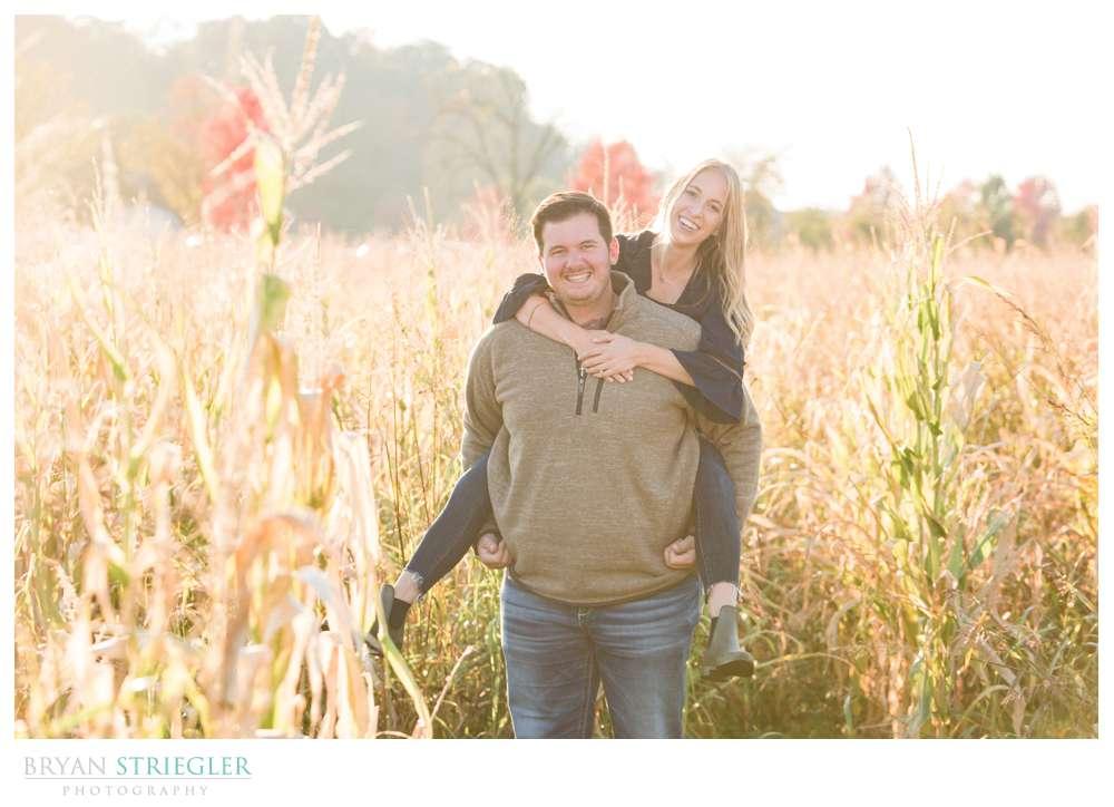 couple in corn field