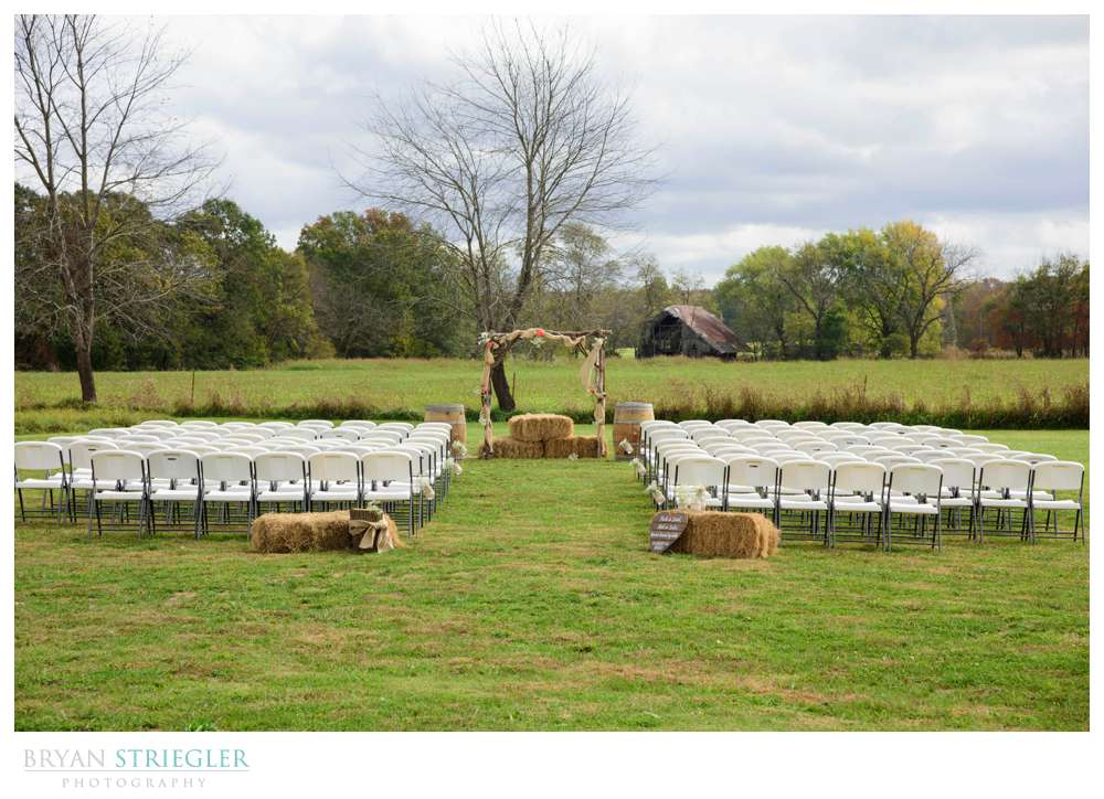 outdoor ceremony at Fritchie Farms