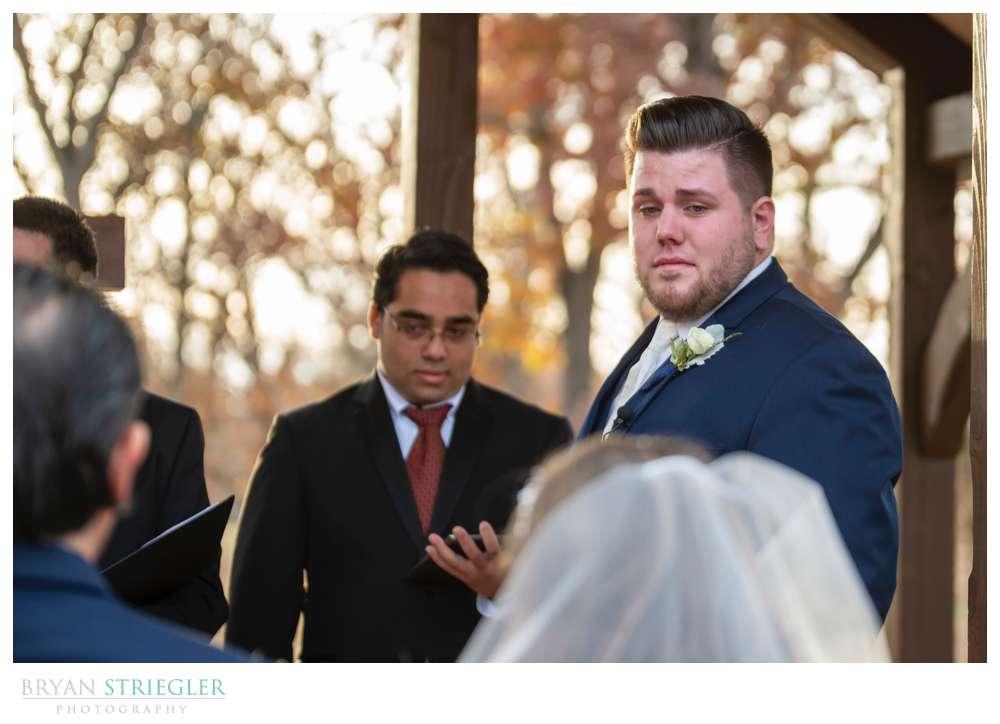 groom gets emotional