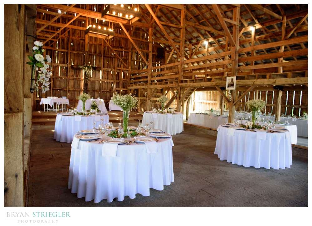 inside the barn at hat creek ranch