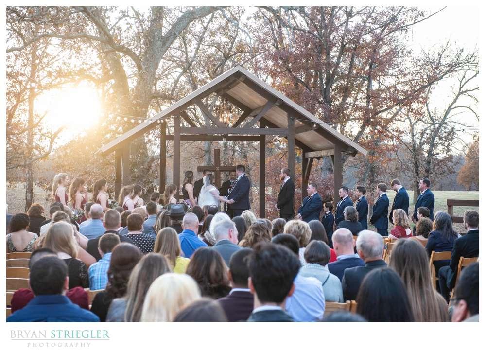 November wedding at the Barn at the Springs