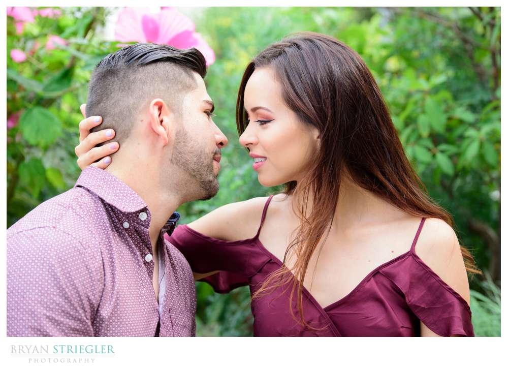 engagement photos looking into each other's eyes
