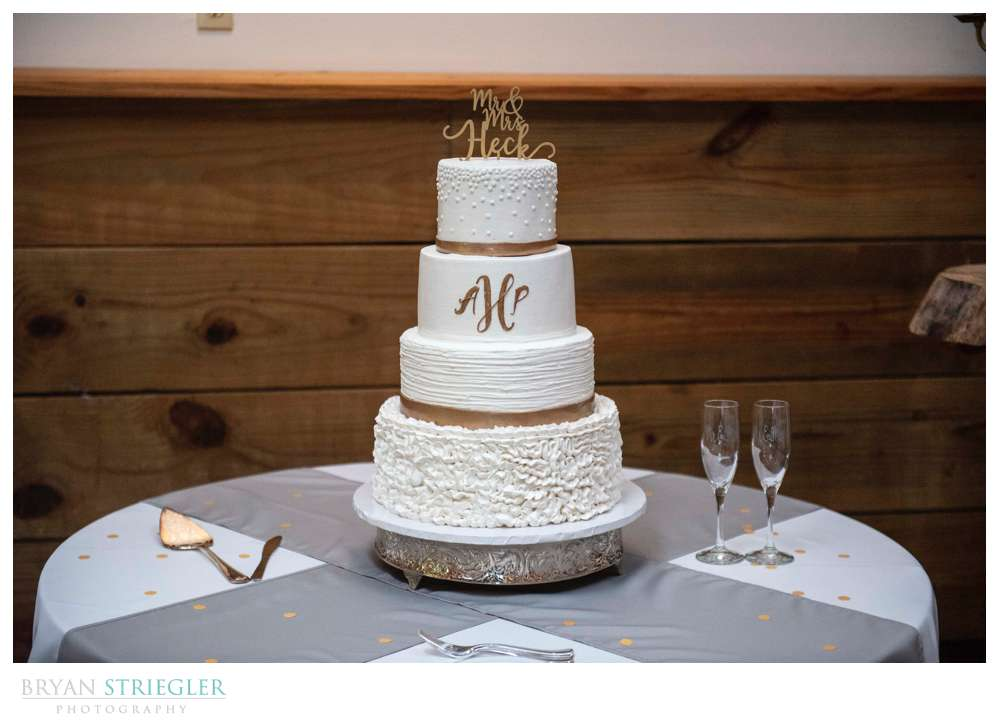 wedding cake with white frosting