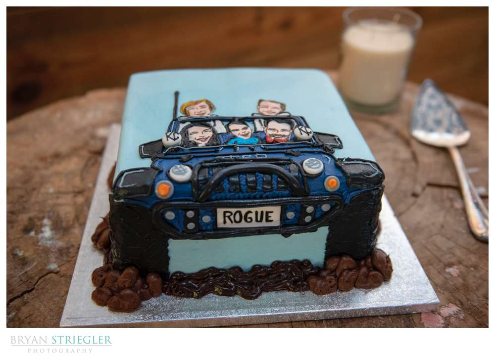 groom cake with truck