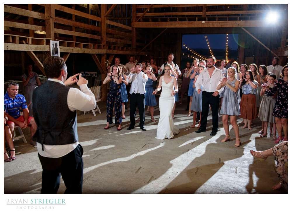 box dance at wedding