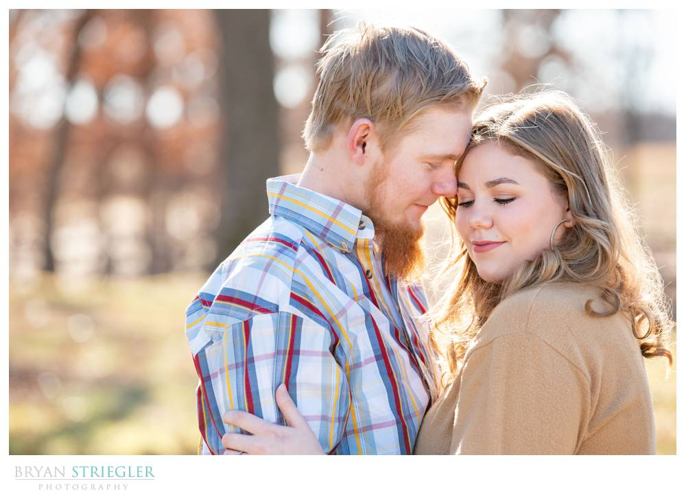 bright sunny engagement photo