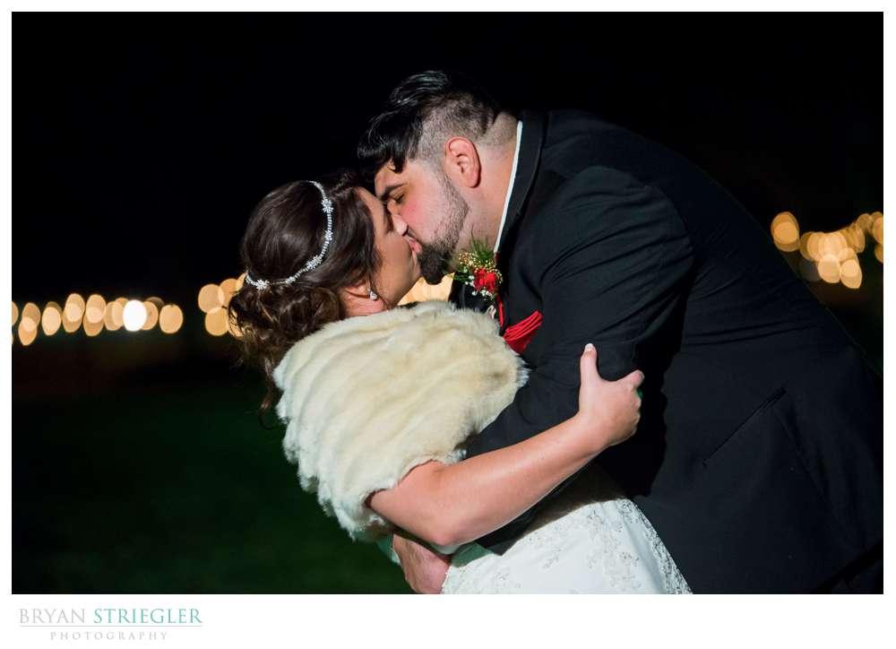 last photo of bride and groom leaving