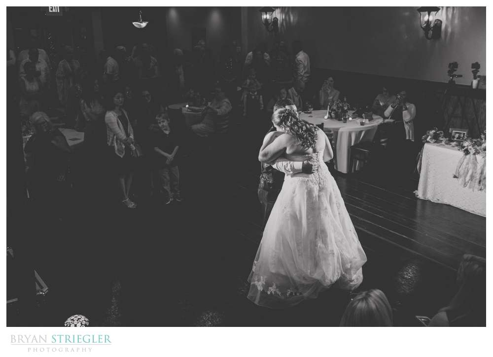 couple first dance black and white