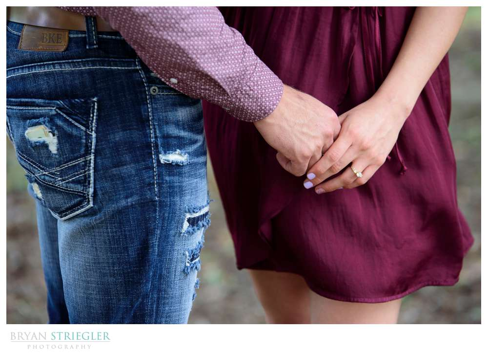 engagement photos holding hands