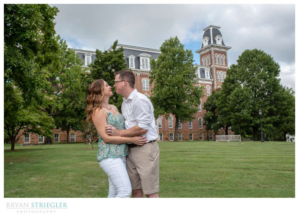 photos on Old Main lawn