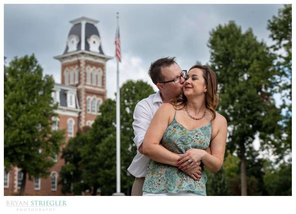 engagement photo at Old Main