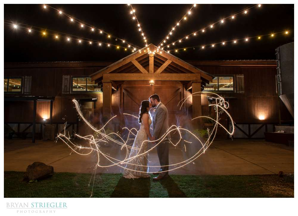 long exposure with sparklers