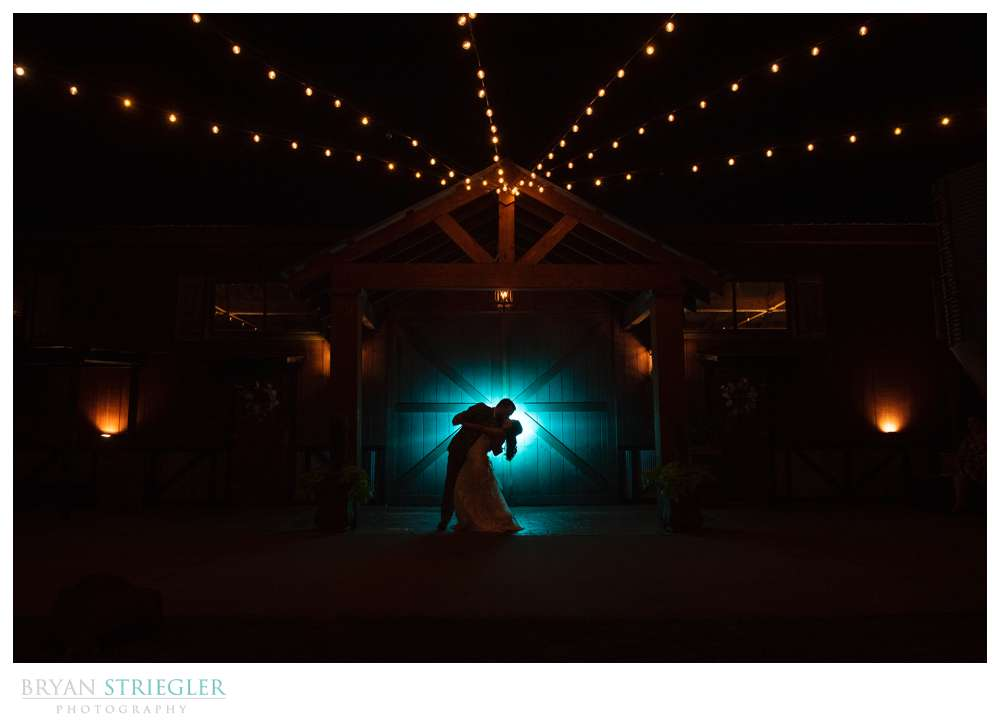 silhouette portrait with blue light