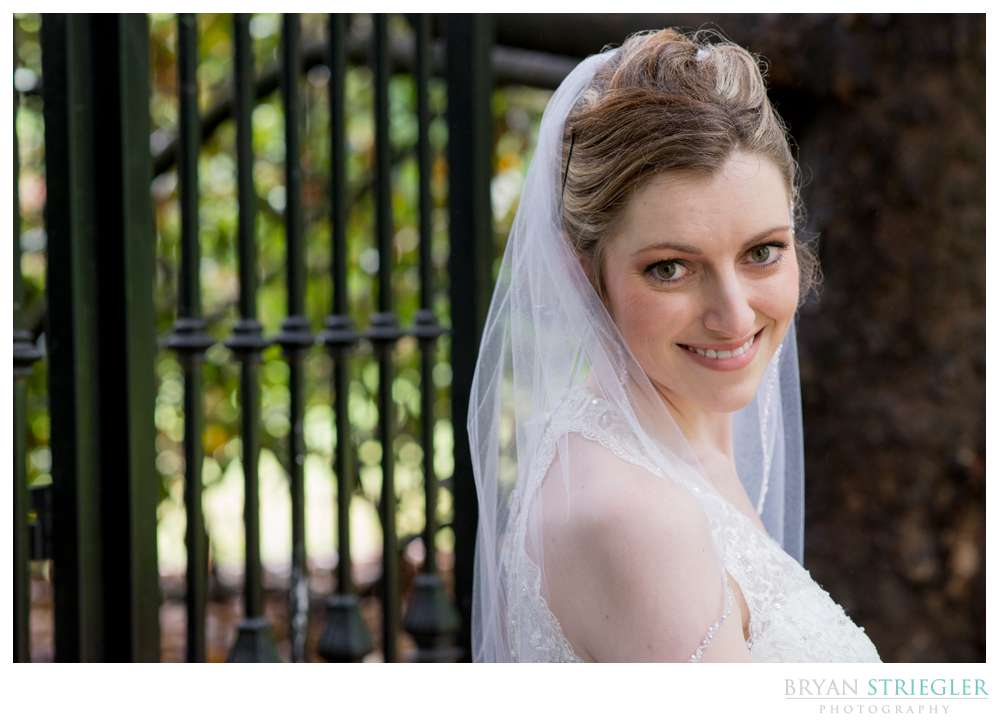 bridal photo at Magnolia Gardens